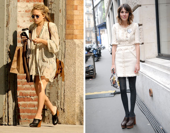 Clogs Olsen and Alexa Chung