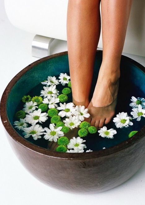 feet care tips - exfoliate and feet soak