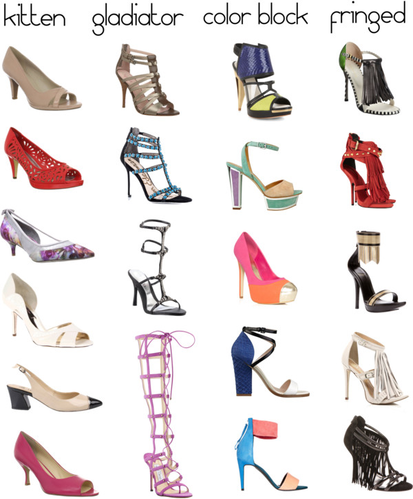 Shoe Dictionary: The Different Types of Heels - She Likes ...